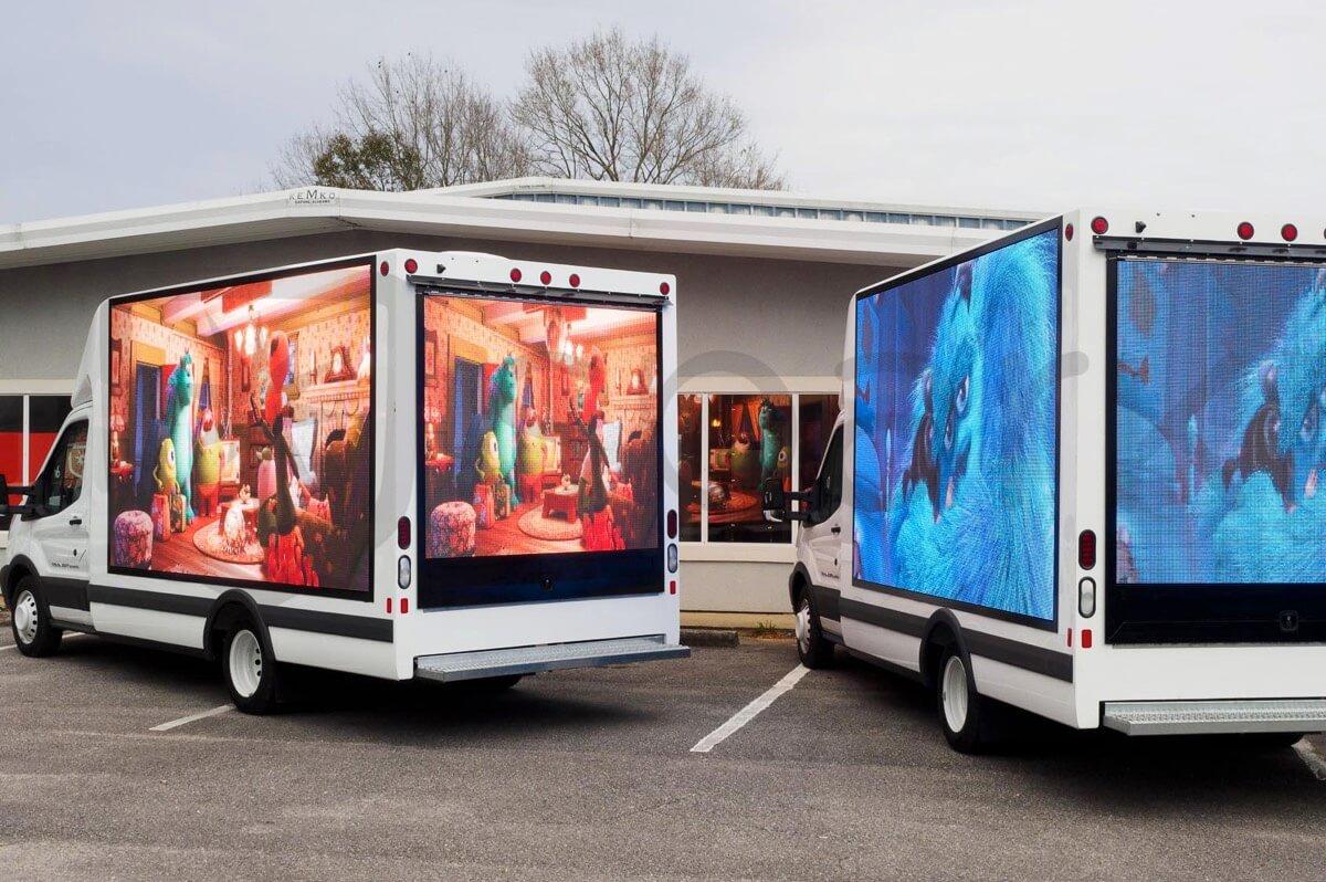 Решение мобильного светодиодного грузовика