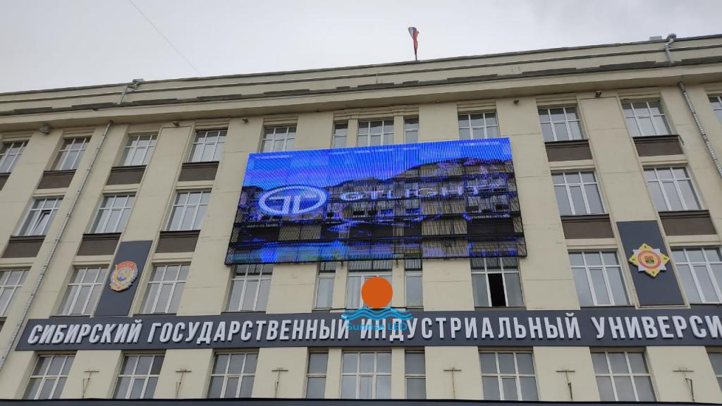 Сетчатый светодиодный экран в Новокузнецке, Россия