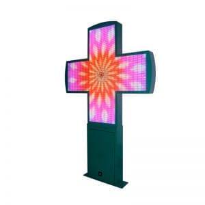 Гламурный аптечный крест светодиодный дисплей